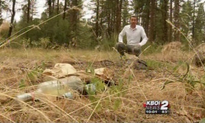 Garbage left behind makes neighbor unhappy camper